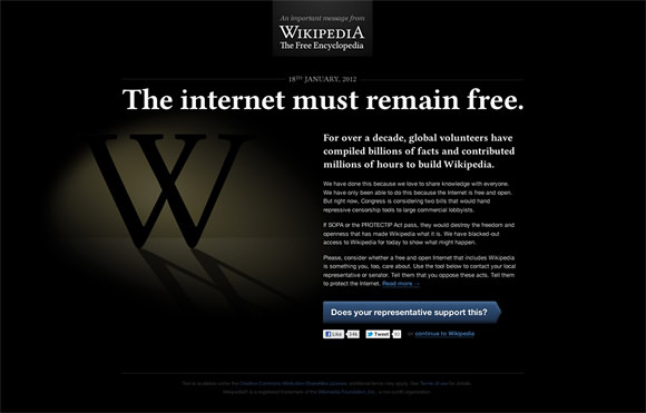 Reddit and Wikipedia will go dark in SOPA protest | Tandil Theme